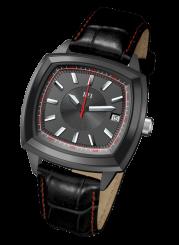 121TIME - Spin Master Steel Quartz black 41mm