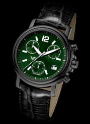 121TIME - Zenturio Steel Quartz chrono black 38mm
